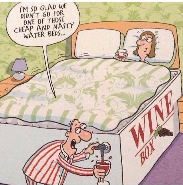 wine-bed